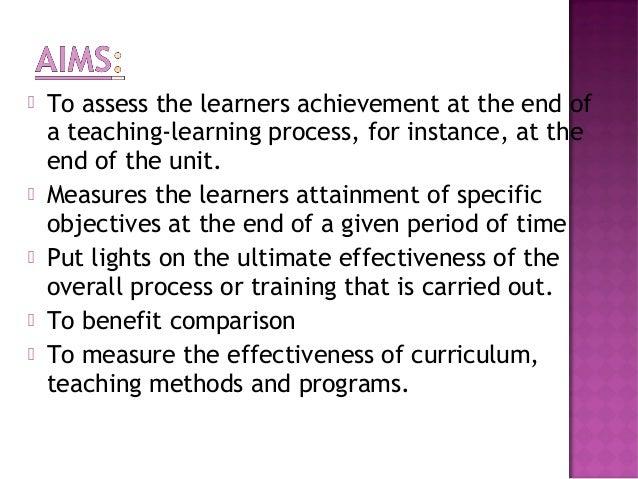 Summative and formative evaluation Slide 3