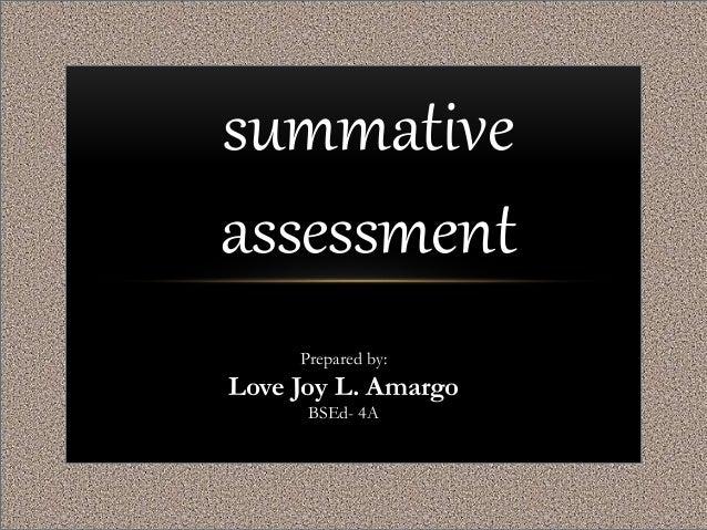 summative assessment preparation