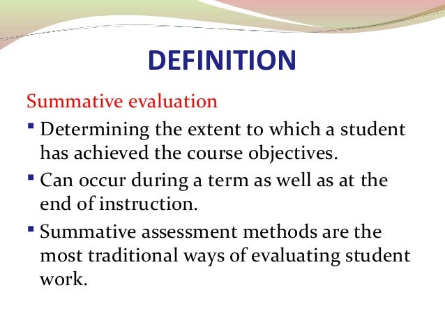Summative Evaluation 06.03.2014