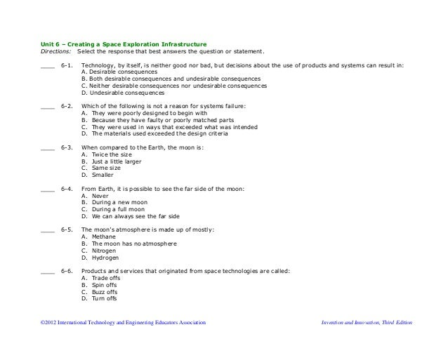 template for multiple choice test