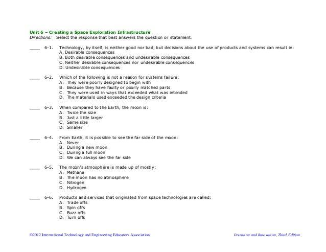 sample multiple choice test
