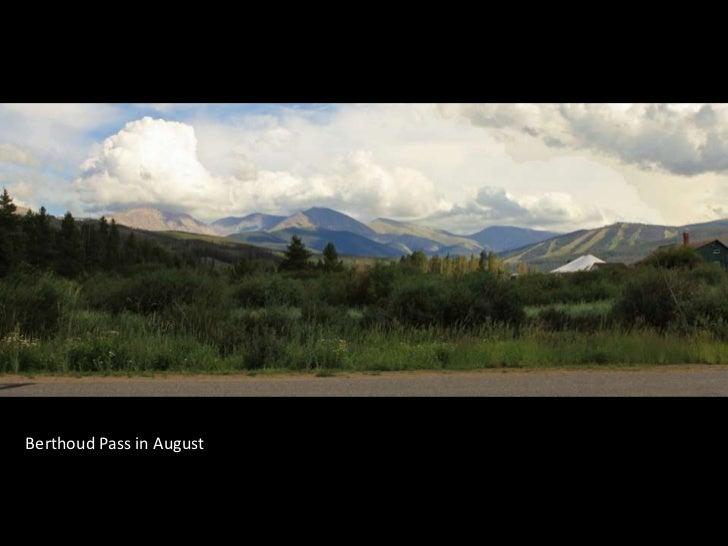 Berthoud Pass in August<br />