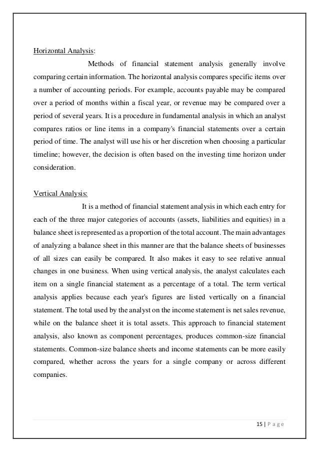 FINANCIAL STATEMENT ANALYSIS AND STUDY OF BANK FINANCE FOR WORKING CA…