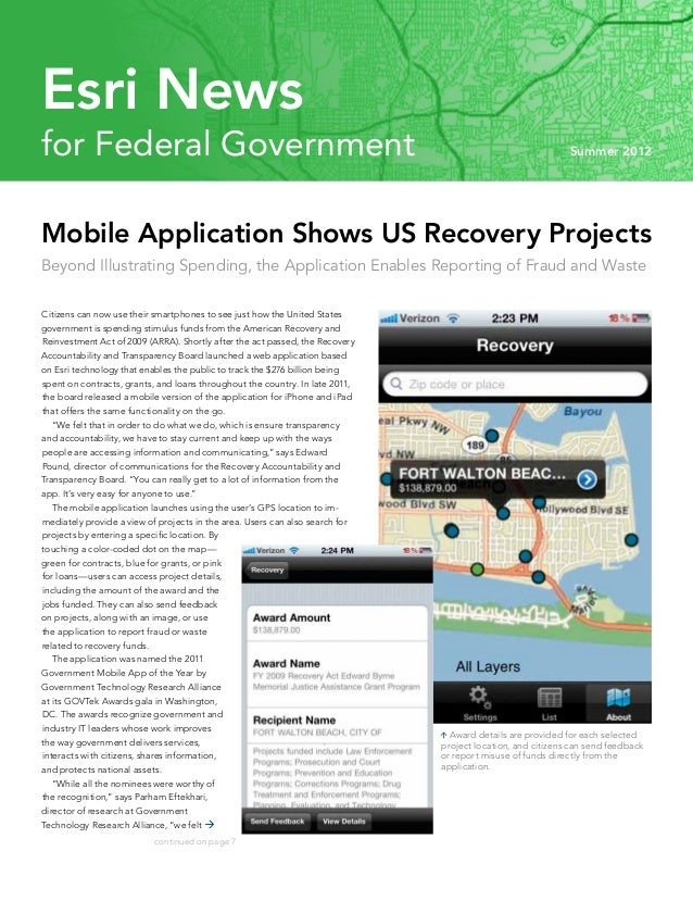 Esri Newsfor Federal Government                                                                                      Summe...