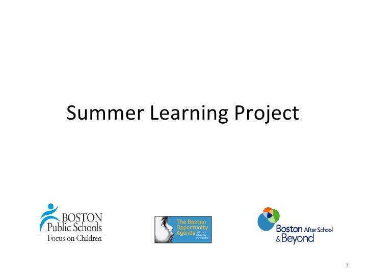 Summer Learning Project                          1