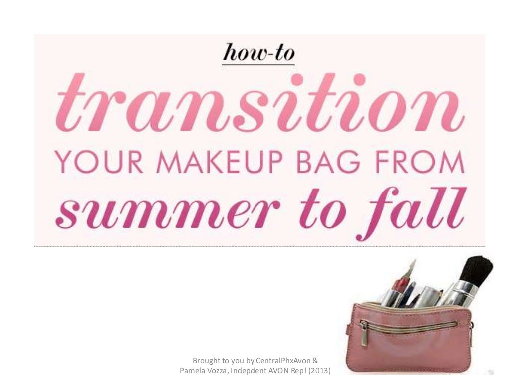 AVON - Transition Your Makeup Bag from Summer to Fall (2013)