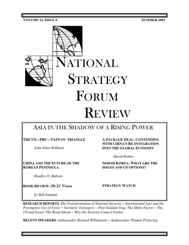 VOLUME 12, ISSUE 4                                                         SUMMER 2003                    NATIONAL        ...