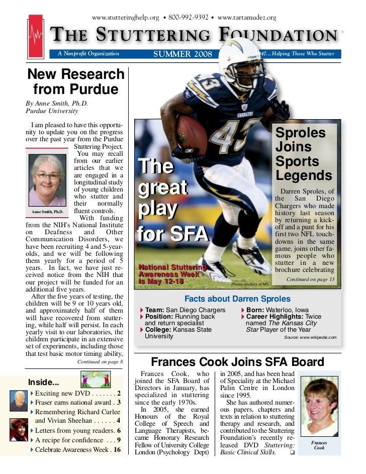 www.stutteringhelp.org • 800-992-9392 • www.tartamudez.org         T HE S TUTTERING F OUNDATION            A Nonprofit Org...