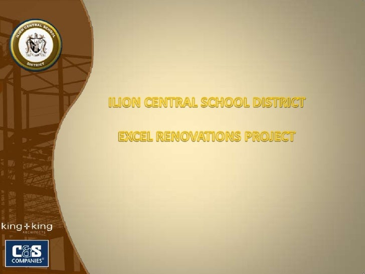 ILION CENTRAL SCHOOL DISTRICT<br />EXCEL RENOVATIONS PROJECT<br />