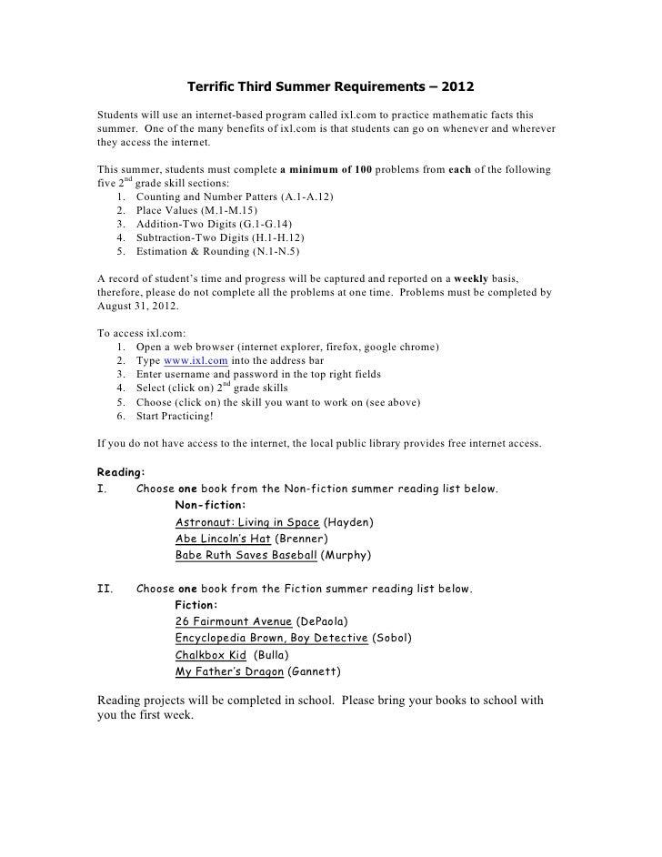 Summer 2012 plans