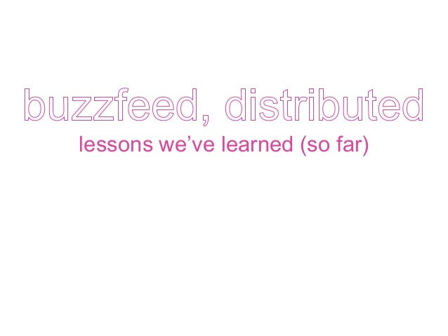 lessons we've learned (so far)