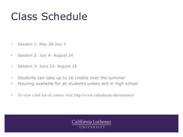 Summer at Cal Lutheran Slide 2