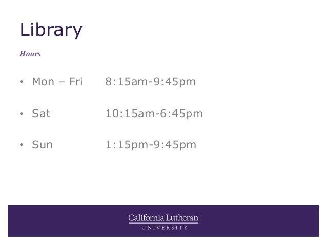 Summer at Cal Lutheran Slide 3