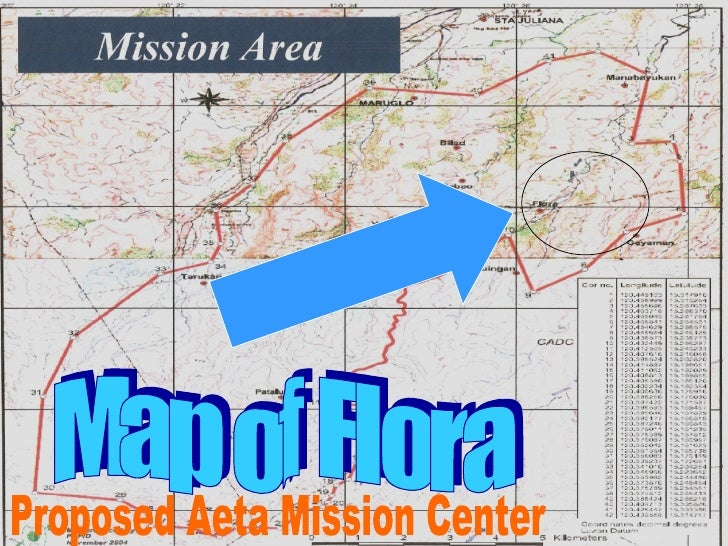 Map of Flora Proposed Aeta Mission Center