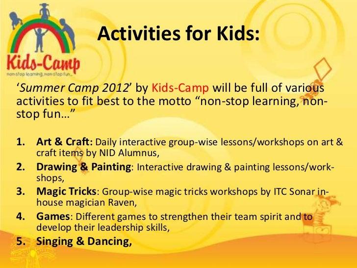 Activities For KidsSummer Camp