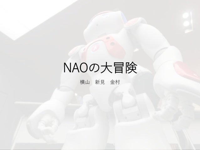 NAOの大冒険 横山 新見 金村