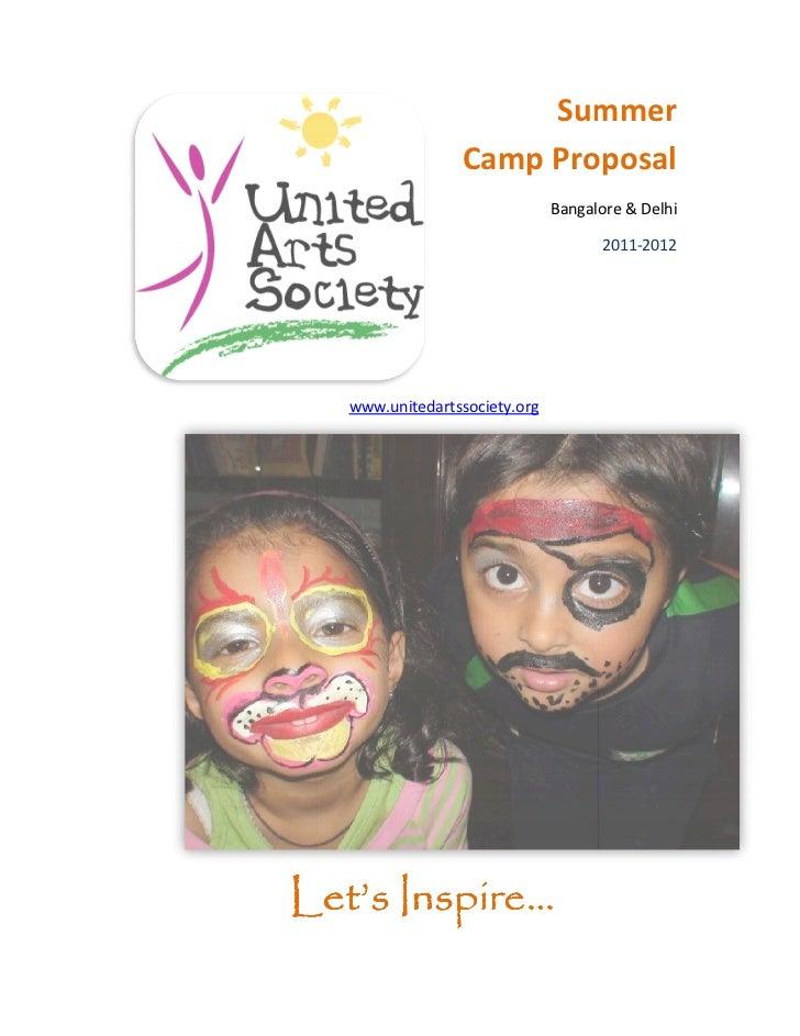Summer                 Camp Proposal                               Bangalore & Delhi                                     2...
