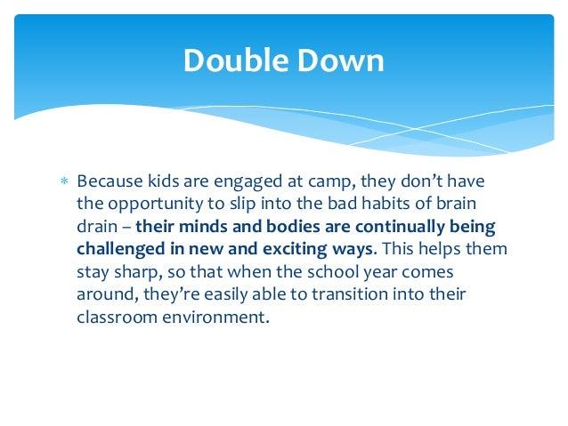 Summer camps turning brain drain into brain gain for Disclaimer template uk