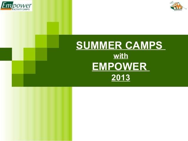 SUMMER CAMPSwithEMPOWER2013