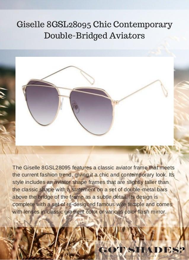 4d9feafe887f8 Giselle 8GSL28091 Haute Couture Gibbous Sunglasses  5.