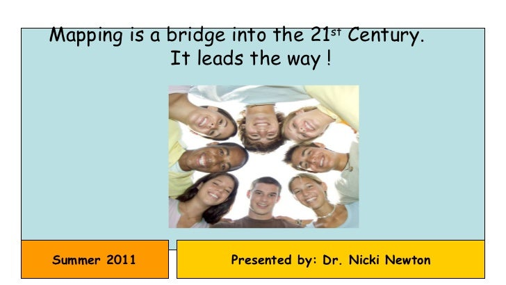 Summer 2011 Presented by: Dr. Nicki Newton Mapping is a bridge into the 21 st  Century.  It leads the way !