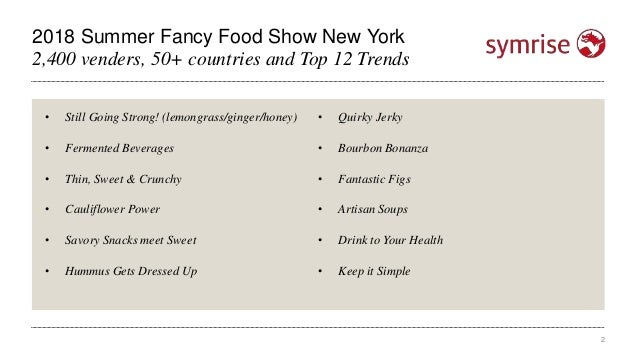 Top 12 Trends from the 2018 Summer Fancy Food Show Slide 2