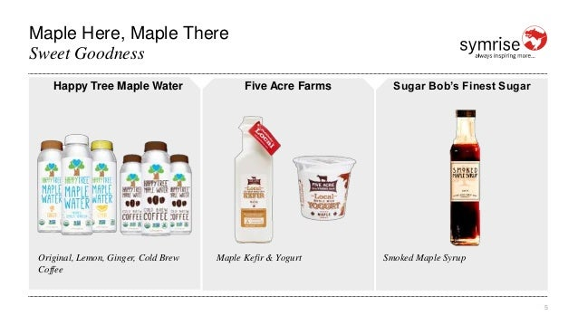 Maple Here, Maple There 5 Sweet Goodness Happy Tree Maple Water Original, Lemon, Ginger, Cold Brew Coffee Five Acre Farms ...