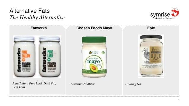 Alternative Fats 9 The Healthy Alternative Fatworks Pure Tallow, Pure Lard, Duck Fat, Leaf Lard Chosen Foods Mayo Avocado ...