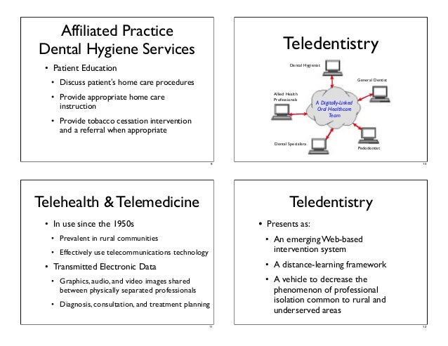 Teledentistry Assisted Affiliated Practice Dental Teams