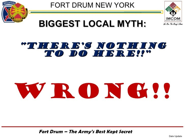 """FORT DRUM NEW YORK  BIGGEST LOCAL MYTH:""""THERE'S NOTHING   TO DO HERE!!""""Wrong!!  Fort Drum – The Army's Best Kept Secret   ..."""