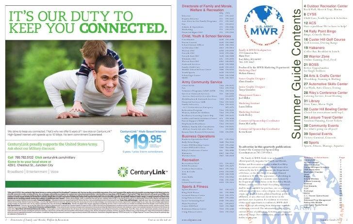 Fort Riley Summer MWR Guide 2012 Slide 2