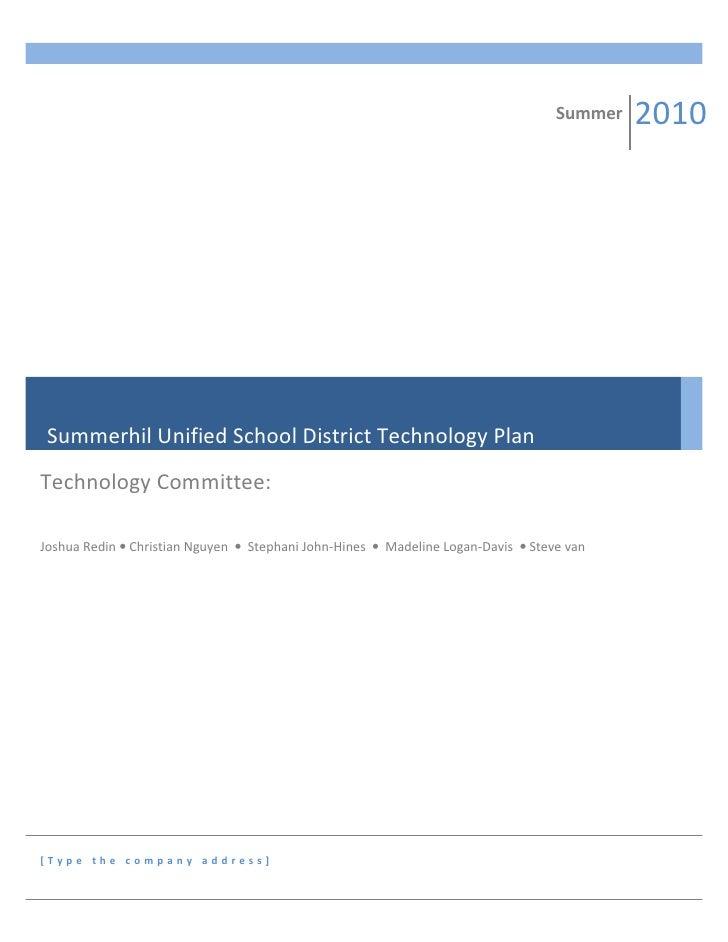 Summerhil unified school district technology plan2