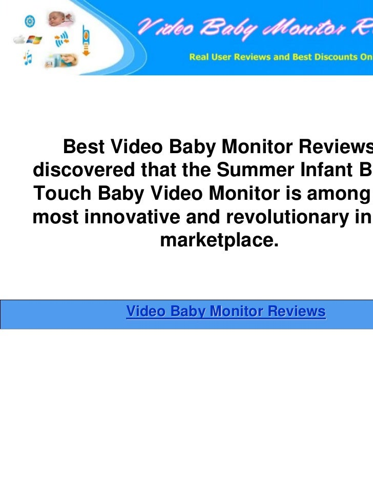 summer infant baby touch digital 3 5 inch color video baby monitor. Black Bedroom Furniture Sets. Home Design Ideas