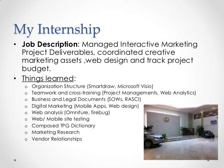 Summer Intern Job Description