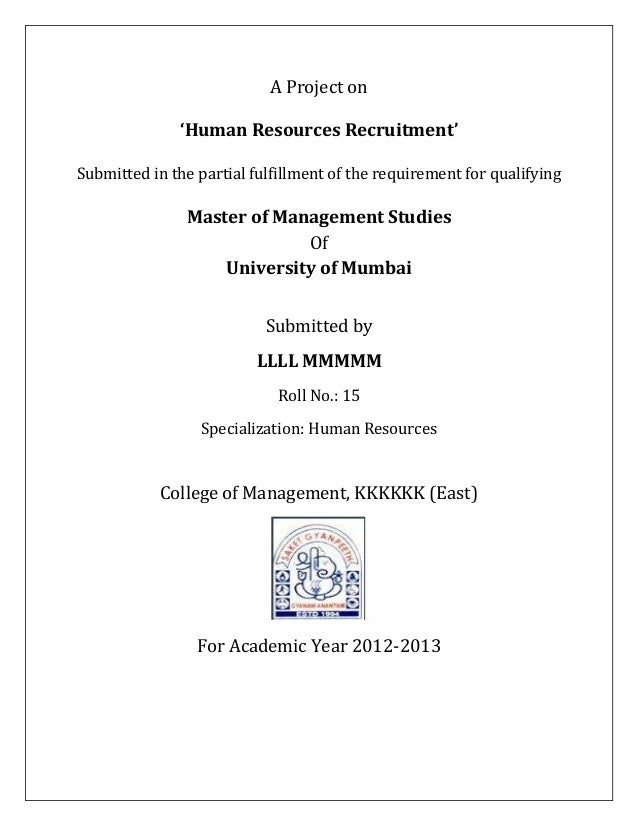 Mba Project Report On Operation Management Pdf