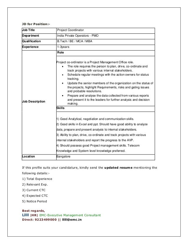 Summer Intern Job Description Job Description For Summer Internship