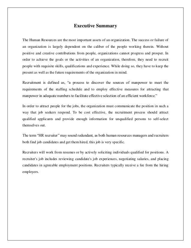 Cover Letter Internship Human Resource Management - HR ...