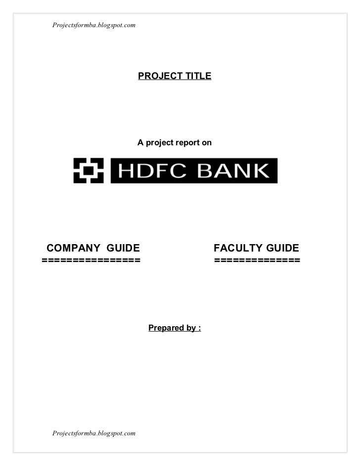 summer internship project report on hdfc account Mba projects junction customer perception of the product of hdfc labour-welfare-at-wcl-project-report 249.