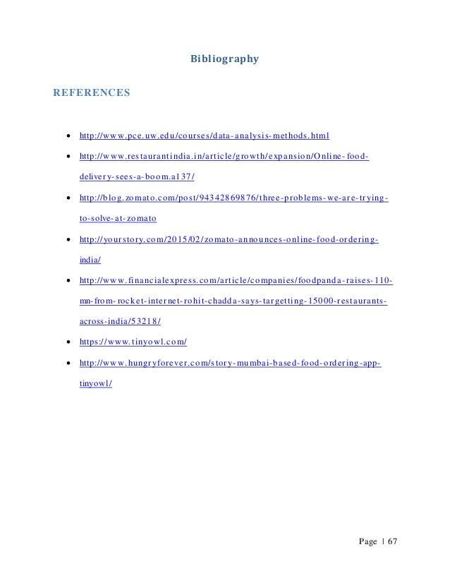 Summer internship project report on online food app- TINYOWL