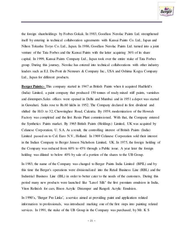 nerolac summer internship report Kansai nerolac paint auditor's report, results of kansai nerolac paint, company history, directors report, chairman's speech, auditors report & director reports, company results info of kansai nerolac paint kansai nerolac paint live bse, nse charts, historical charts, f&o quote, stock quote of kansai nerolac paint,.
