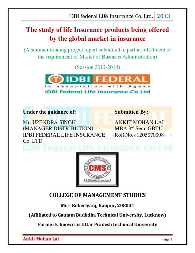 project of idbi federal on finance Apply to 488 federal bank jobs on naukricom, india's no1 job portal  closely work with corporate finance team and provide required support for  idbi federal.