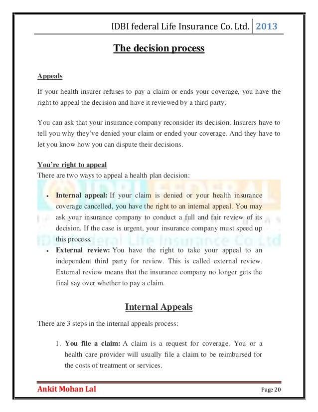 insurance appeals letters