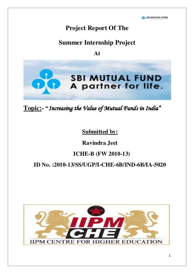 summer internship report on mutual fund Mutual funds us equity dividend global investment management organization through our summer internship program in a summer 2018 internship should apply.