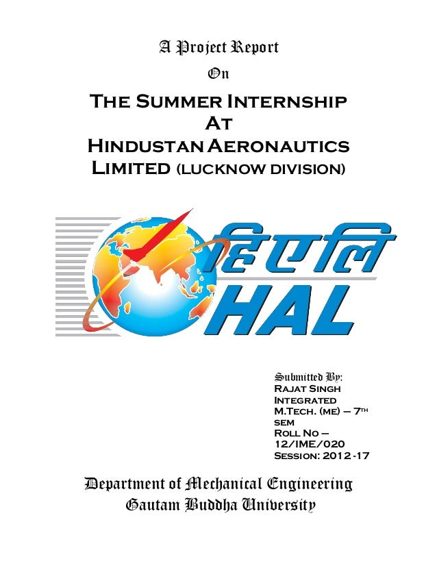 Hal internship report