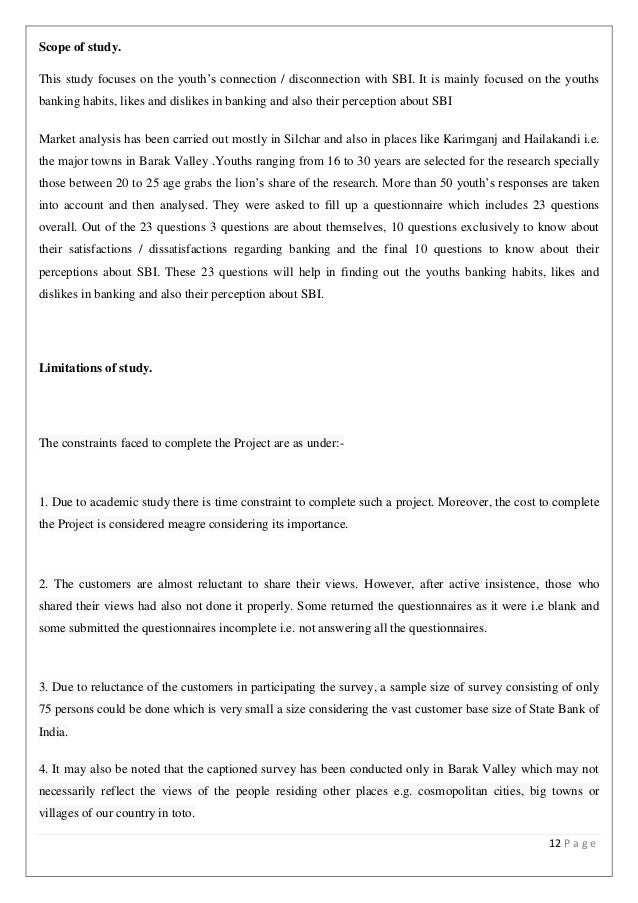 internship report on state bank of india The state bank of india offers the summer internship to deserving students of b schools, law schools, engineering colleges and colleges offering degree programmes the internship is offered on different projects pertaining to the areas related to banking.