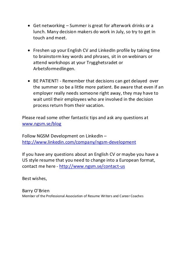 summer jobs in sweden for students