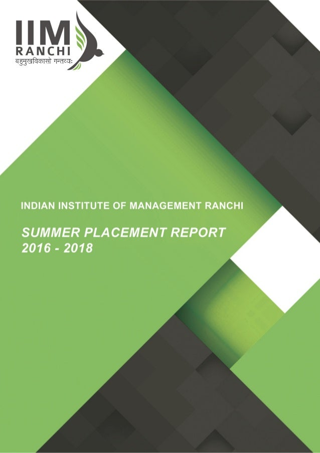 Summer Placement Report 2016-18