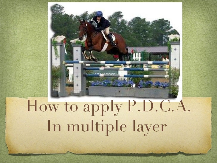 How to apply P.D.C.A. In multiple layer