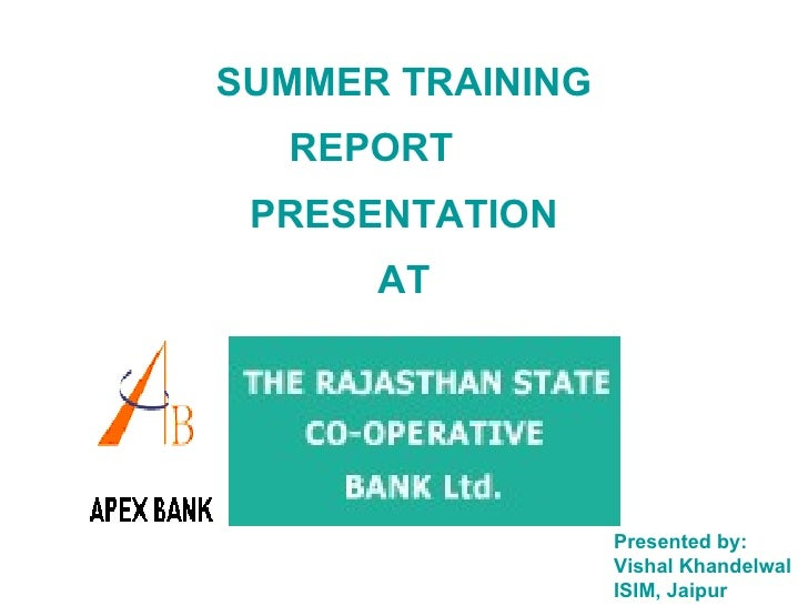 project report on co operative bank Co-operative banks differ from stockholders, banks by their organization, their   submitted his report and recommended to form agricultural credit societies in.