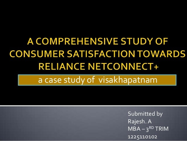 a case study of visakhapatnam Submitted by Rajesh. A MBA – 3RD TRIM 1225110102